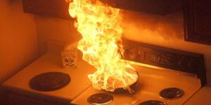 Kitchen pan fire safety